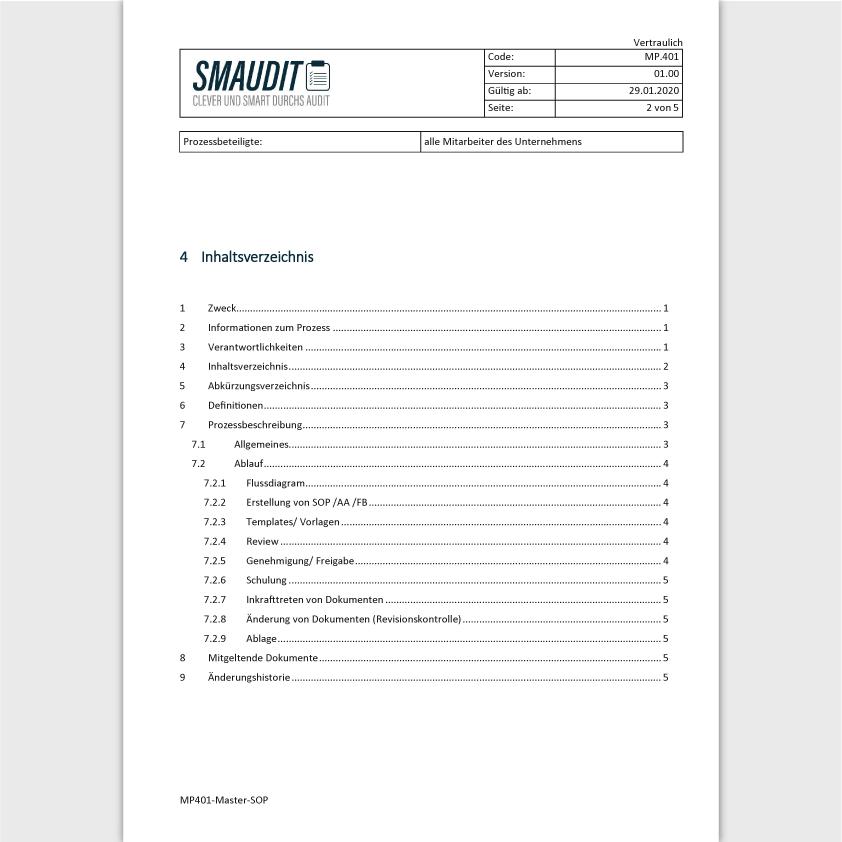 MP.401 - Master SOP - SMAUDIT - DIN EN ISO 13485