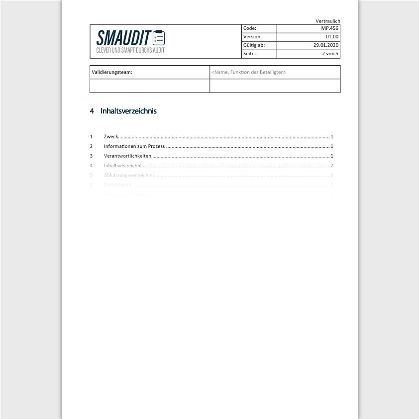 MP.456 - SOP Validierung QM Software - SMAUDIT - DIN EN ISO 13485