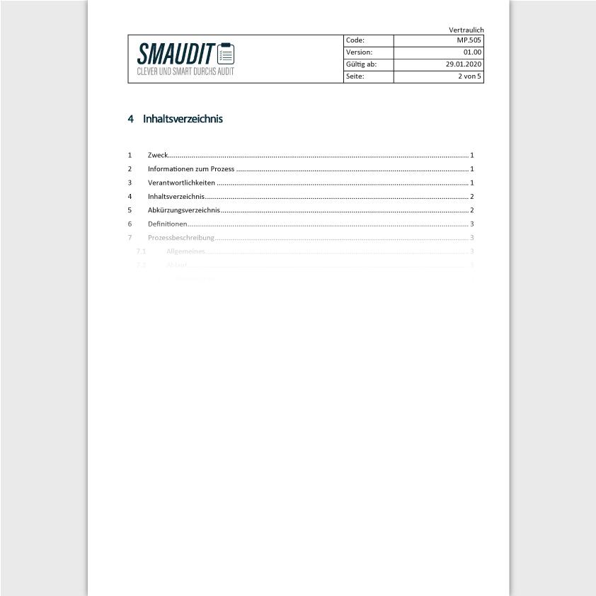 MP.505 - SOP Managementbewertung - SMAUDIT - DIN EN ISO 13485