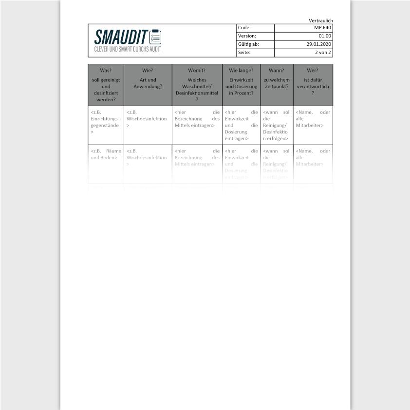 MP.640 - F&T Hygieneplan - SMAUDIT - DIN EN ISO 13485