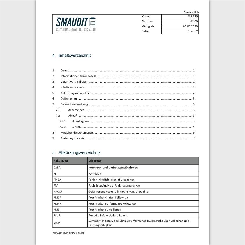 MP.730 - SOP Entwicklung - SMAUDIT - DIN EN ISO 13485