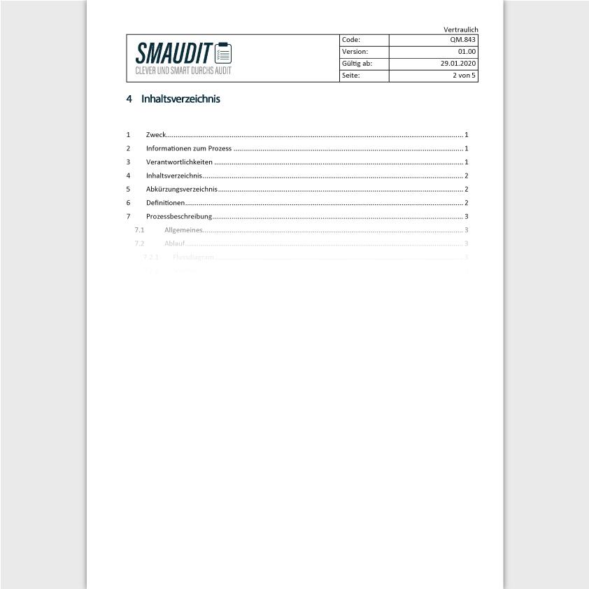 QM.843 - SOP Bereitstellung externer Produkte - SMAUDIT - DIN EN ISO 9001