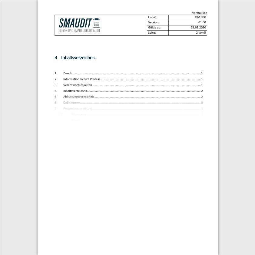 QM.930 - SOP Managementbewertung - SMAUDIT - DIN EN ISO 9001