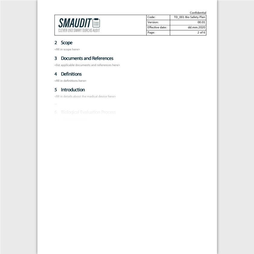 TD.001 - F&T Bio Safety Plan (englisch) - SMAUDIT - Technische Dokumentation