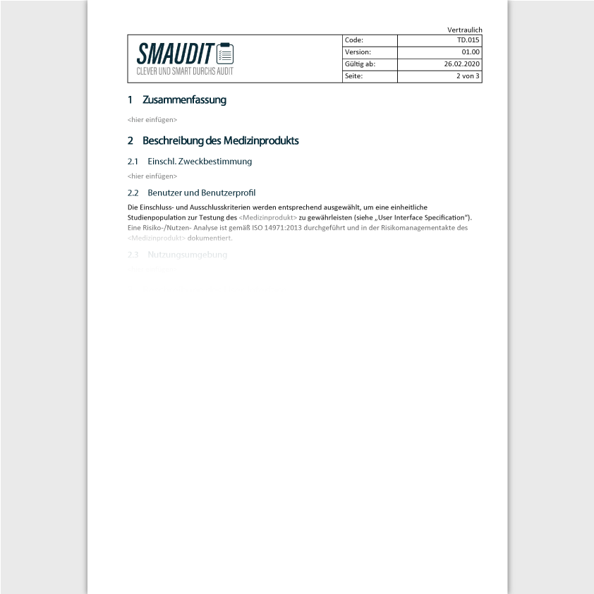 TD.015 - F&T Usability Evaluation Report - SMAUDIT - Technische Dokumentation