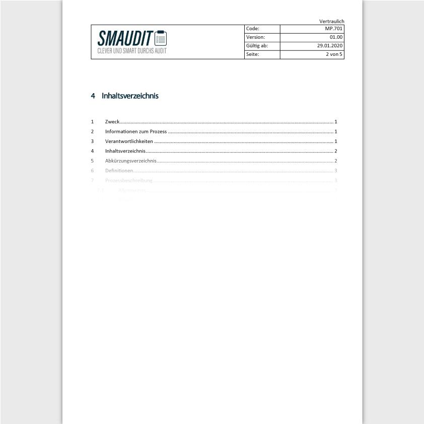TD.701 - SOP Risikomanagement - SMAUDIT - Technische Dokumentation