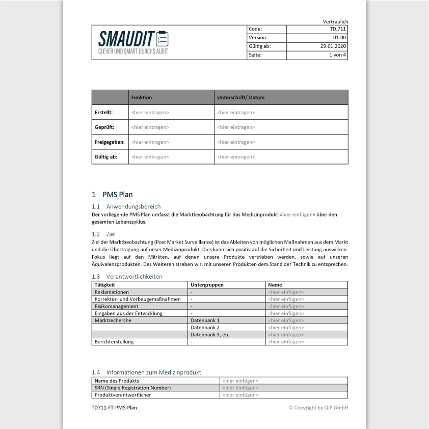 TD.711 - F&T PMS Plan - SMAUDIT - Technische Dokumentation